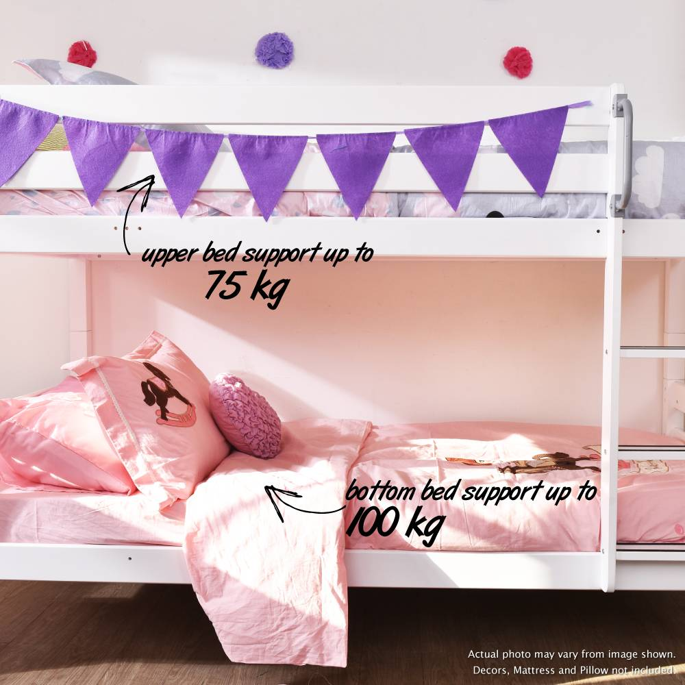Beds Kids Adult Solid Wood Separable To 2 Beds Double Decker Single Size Bunk Bed Low
